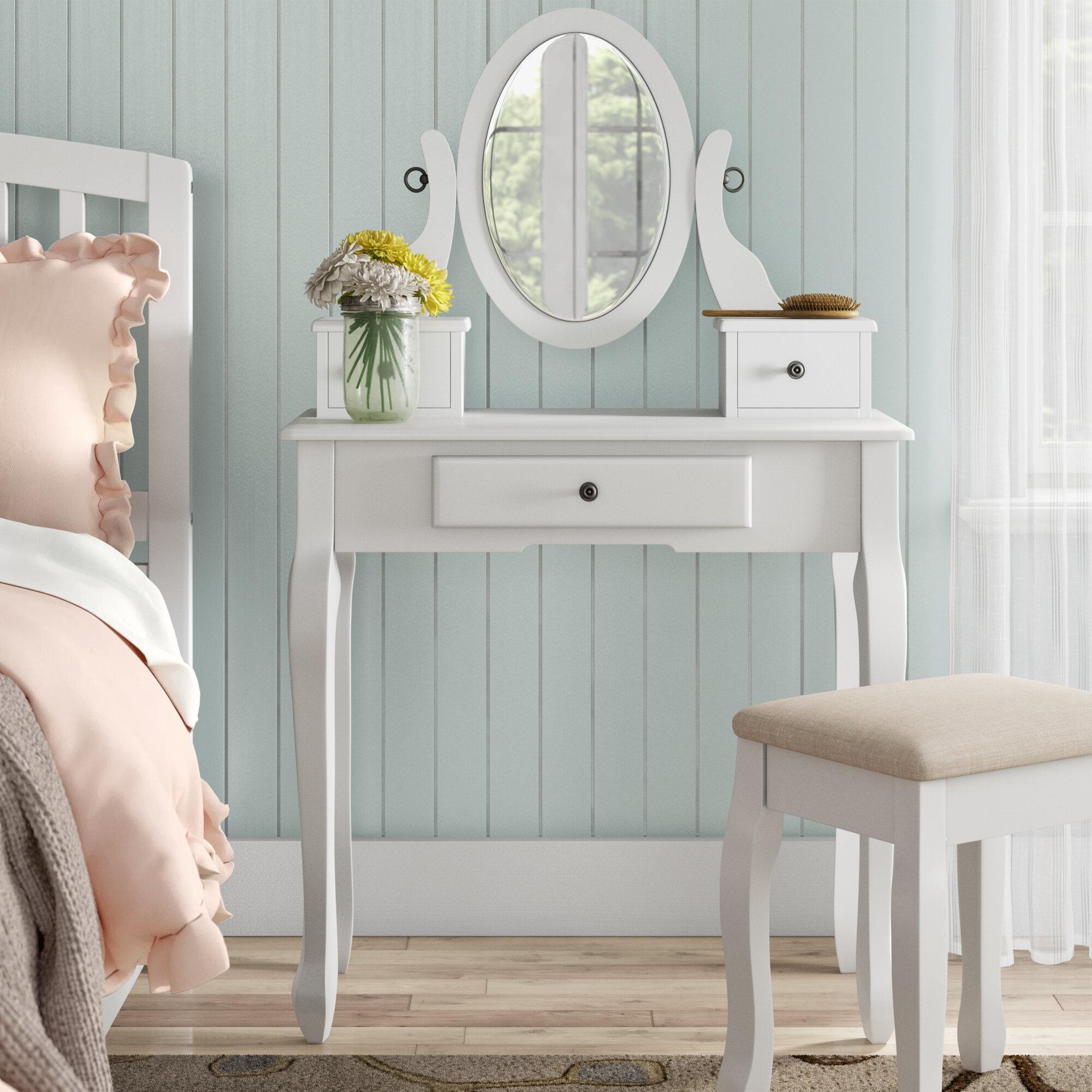 Grovelane Elianna Vanity Set With Mirror Wayfair