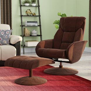 Winnols Swivel Recliner With Ottoman