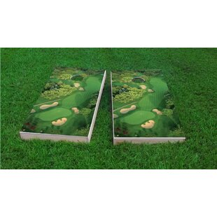 Custom Cornhole Boards Golf Course Flyover Cornhole Game Set
