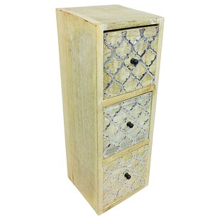 Fisher 3 Drawer Chest By World Menagerie