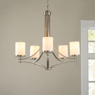Agnes 5-Light Shaded Chandelier by Andover Mills