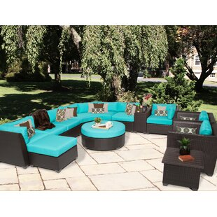 Medley 12 Piece Sectional Seating Group with Cushions