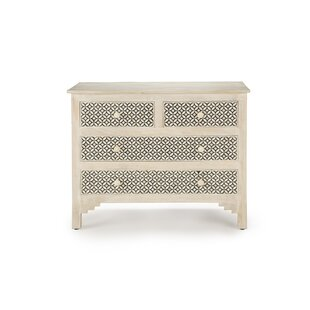 Bungalow Rose Greenawalt 4 Drawer Accent Chest