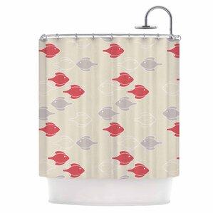 mayan fish shower curtain