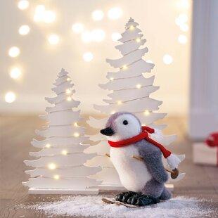 2 Piece White Light Up Decorattive Tree Set By The Seasonal Aisle