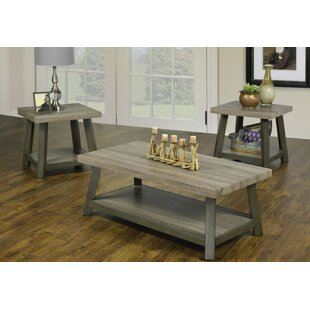 Harbin Reclaimed Wood Look 3 Piece Coffee Table Set