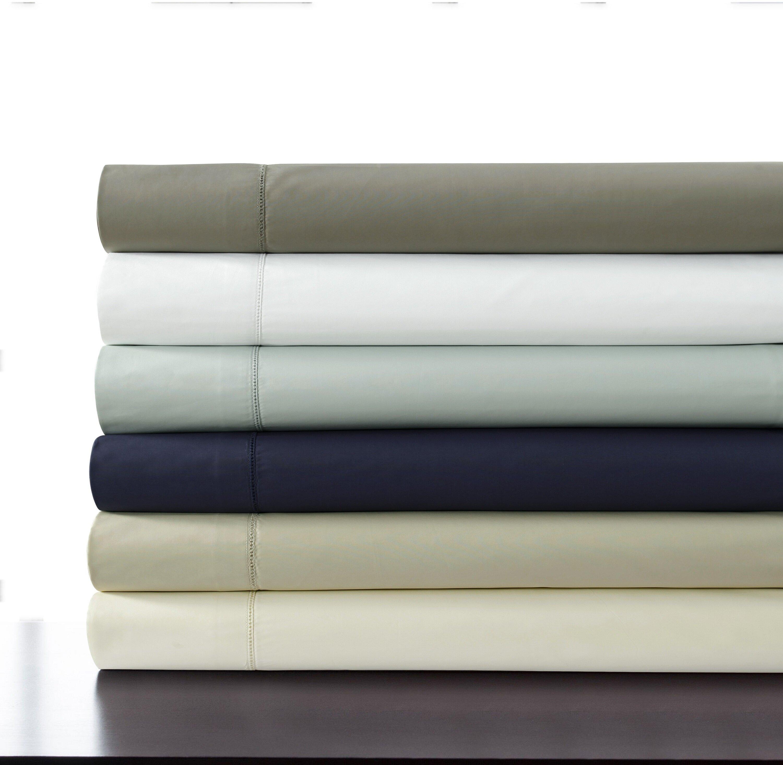 500 Thread Count 100 Cotton Percale Extra Deep Pocket Sheet Set