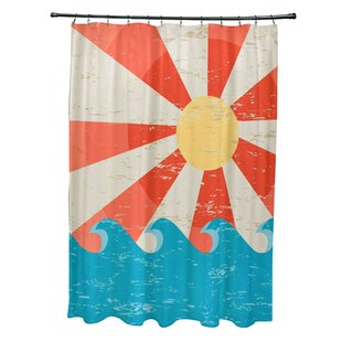 Pembrook Polyester Sunbeams Geometric Single Shower Curtain