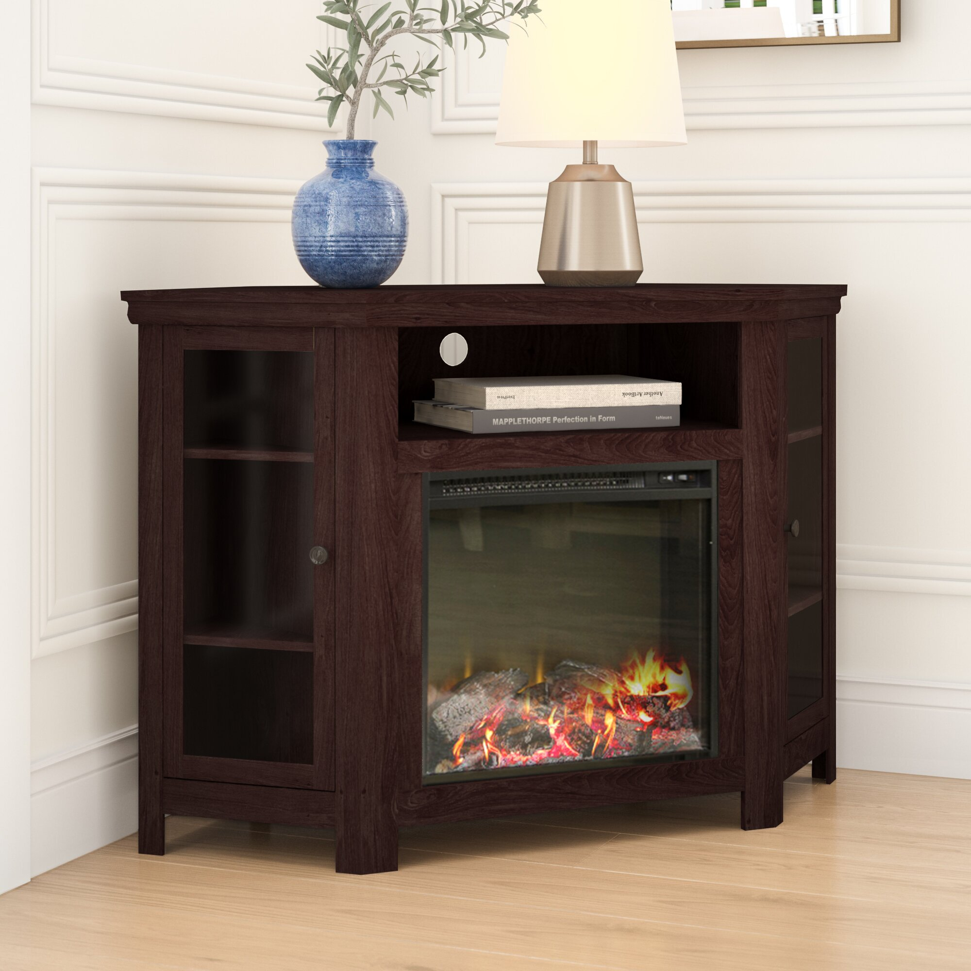 Mistana Tieton Tv Stand For Tvs Up To 48 With Fireplace Reviews