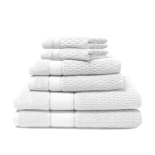 Degen 6 Piece Turkish Cotton Towel Set (Set of 6)