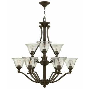 Hinkley Lighting Bolla 9-Light Shaded Chandelier