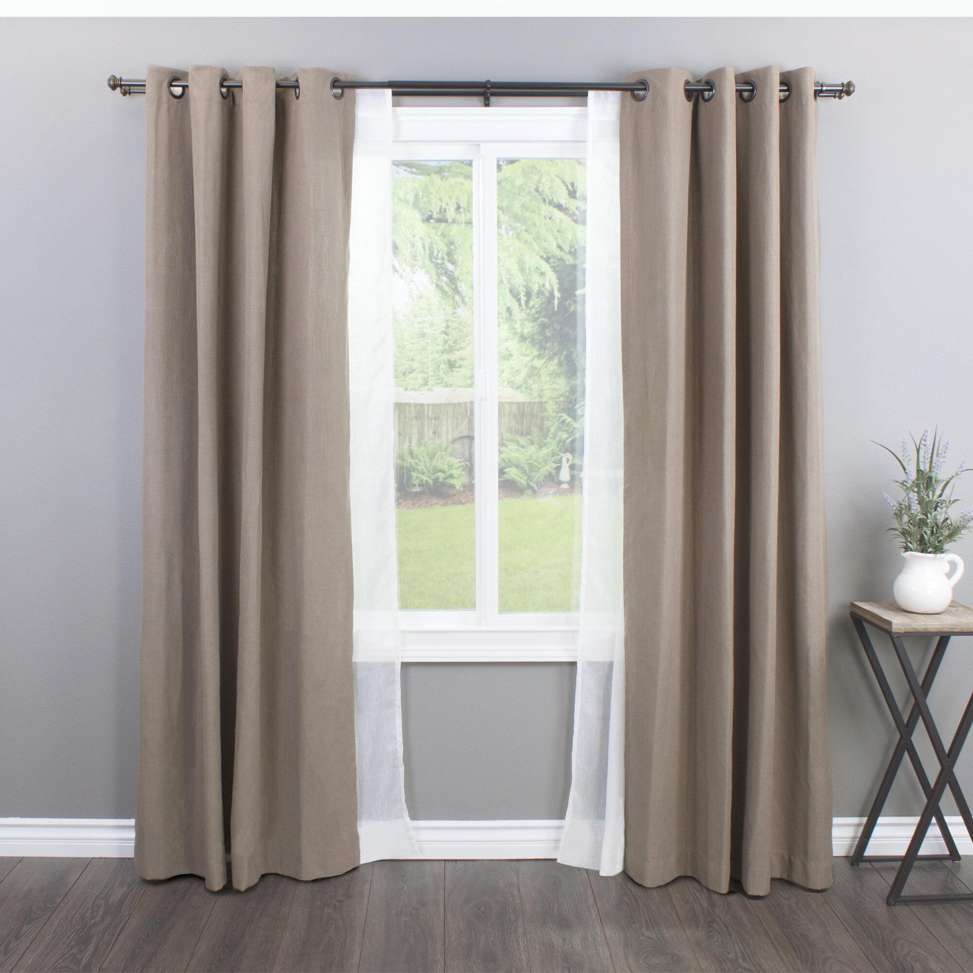 Greyleigh Bloxom Curtain Rod Set