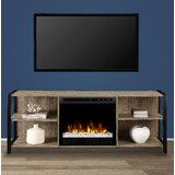 Toussaint TV Stand for TVs up to 70 with Electric Fireplace Included by Williston Forge