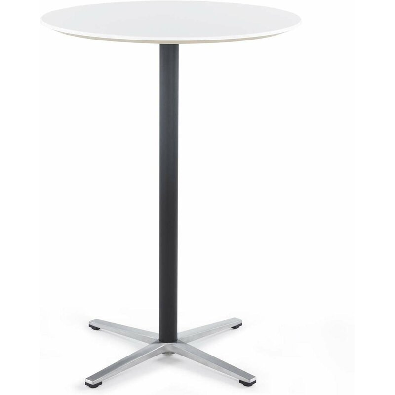 Round Bar Table Tall For Pub Bistro Tail With Height Black Pedestal And Four Star Leg