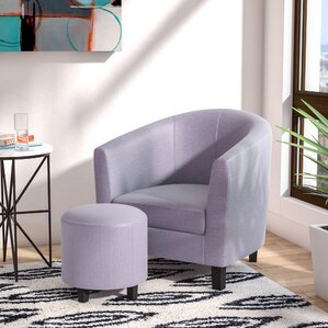 Margaux Barrel Chair and Ottoman by Zipcode ..