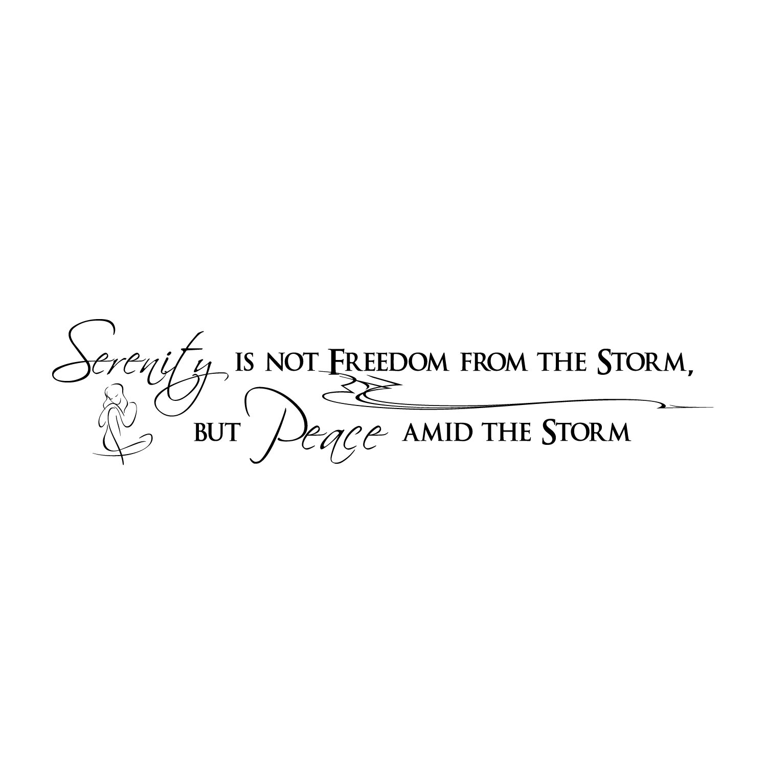 Firesidehome Serenity Is Not Freedom From The Storm, But Peace