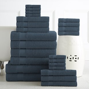Arias 24 Piece 100% Cotton Towel Set By The Twillery Co.