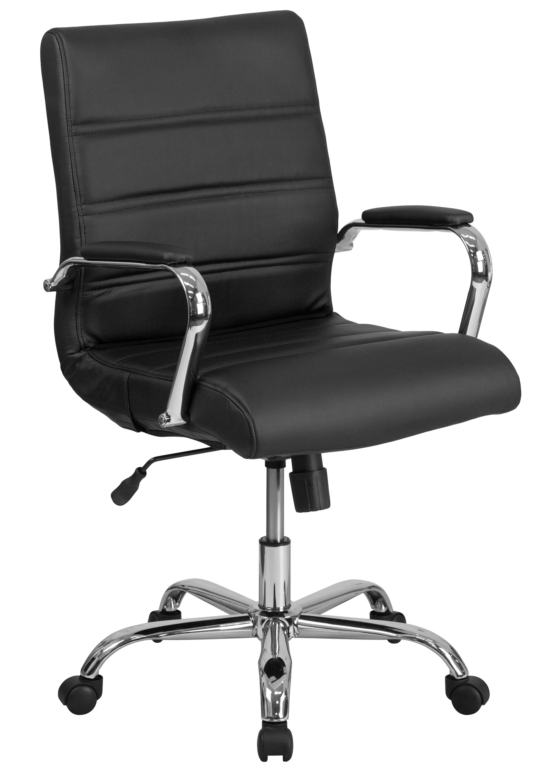 adjustable arms swivel leather armless contemporary chair chrome design executive of white fice attachment office with