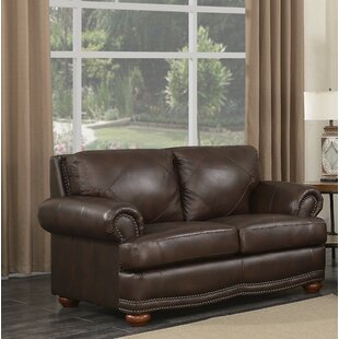 Darby Home Co Bednarek Premium Leather Loveseat