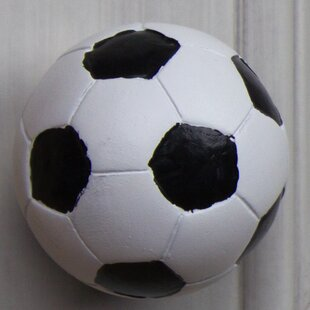 Handpainted Soccer Ball Round Knob (Set of 10)