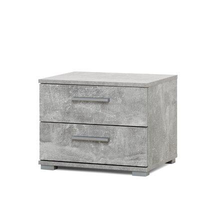 Nachttisch Elora mit 2 Schubladen | Schlafzimmer > Nachttische | Filz | Modern You