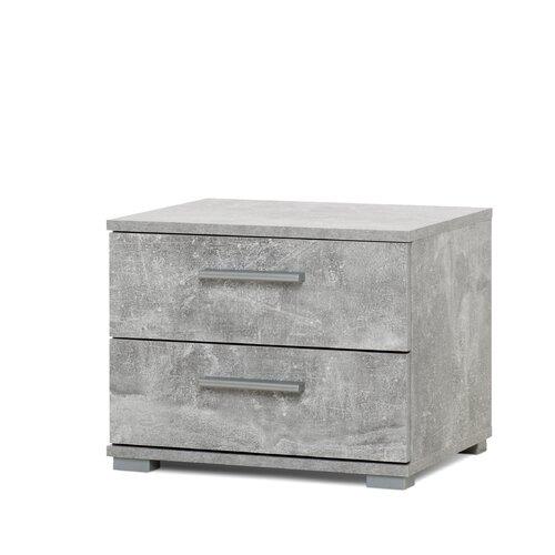Nachttisch Elora mit 2 Schubladen Modern You Farbe: Grau | Schlafzimmer > Nachttische | Grau | Holz | Modern You