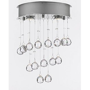 Bergin 2-Light Crystal Pendant by Orren Ellis
