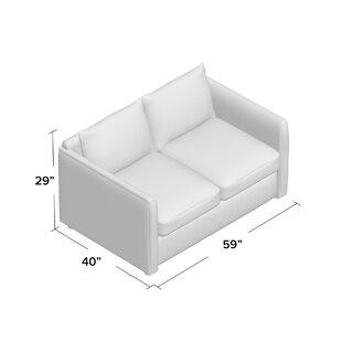 Alice Loveseat AllModern Custom Upholstery