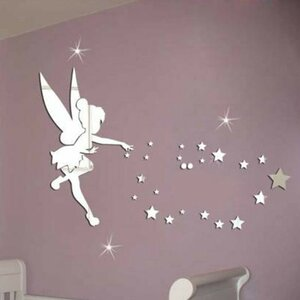 Little Girl Mirror Wall Sticker