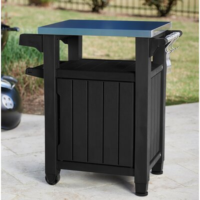 Cambron Bar Serving Cart Finish: Graphite by Andover Mills
