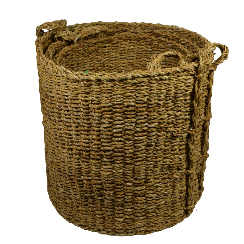 Albin 3 Piece Rattan Basket Set
