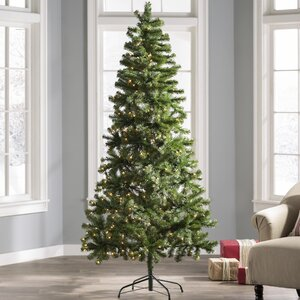 7' Green Fir Artificial Christmas Tree with 350 Clear Lights