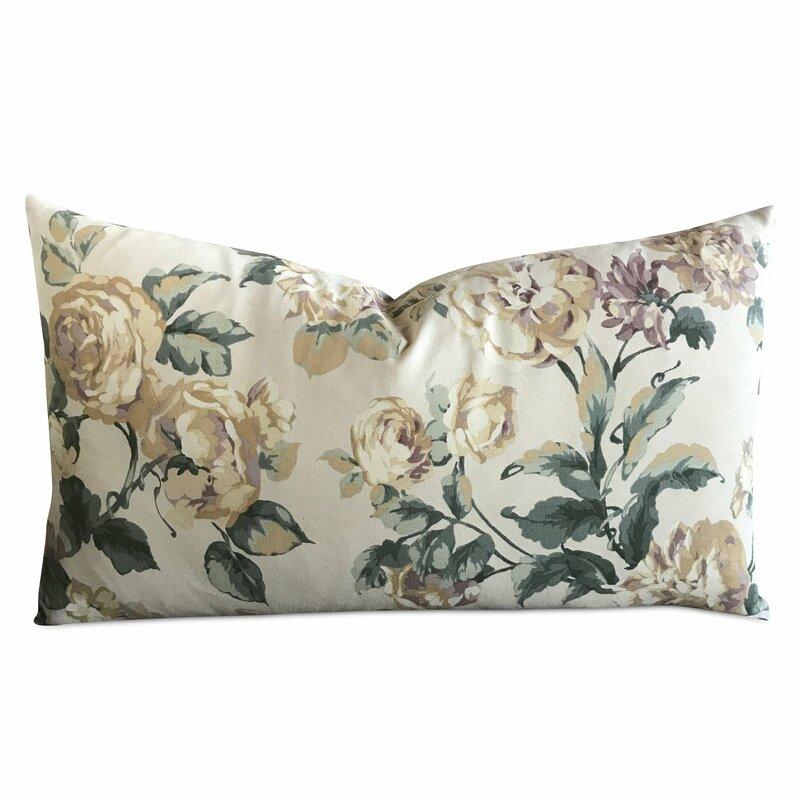 Jarrard Floral Luxury Rectangular Decorative Pillow Cover Birch Lane Simple Rectangular Decorative Pillows For Couch