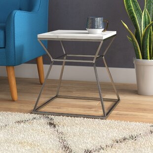 Read Reviews Belair Marble End Table by Ivy Bronx