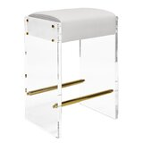Acrylic Panel 26 Bar Stool by Worlds Away