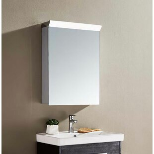 Chow 50 X 50cm Surface Mounted Mirror Cabinet With LED Lightning By Belfry Bathroom