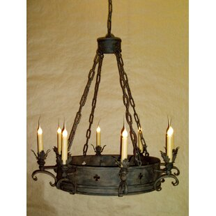Laura Lee Designs Medici 8-Light Wagon Wheel Chandelier