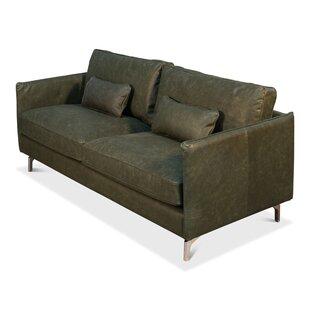 Riceboro Leather Sofa Foundry Select