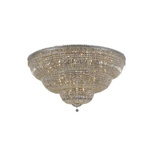 House of Hampton Fulham 48-Light Tapered Layers Flush Mount
