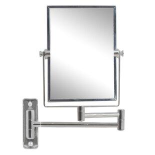 Best Reviews Myndi Rectangle Brass-Mirror Wall Mount Magnifying Wall Mirror ByRoyal Purple Bath Kitchen