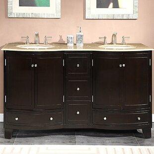 Best Reviews Vivaan 60 Double Bathroom Vanity Set ByDarby Home Co