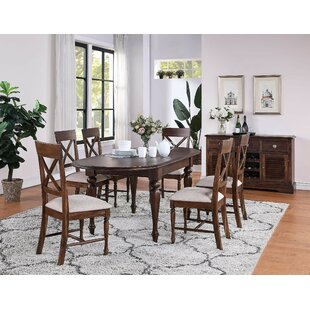 Review Wodan Extendable Dining Set With 6 Chairs (Set Of 7)