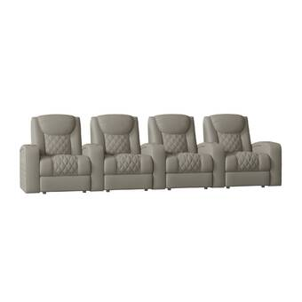 Red Barrel Studio Continental Home Theater Row Seating Row Of 3 Wayfair