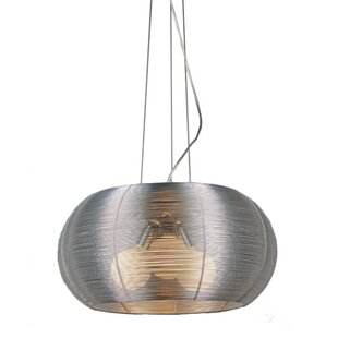Bromi Design 3-Light Drum Chandelier