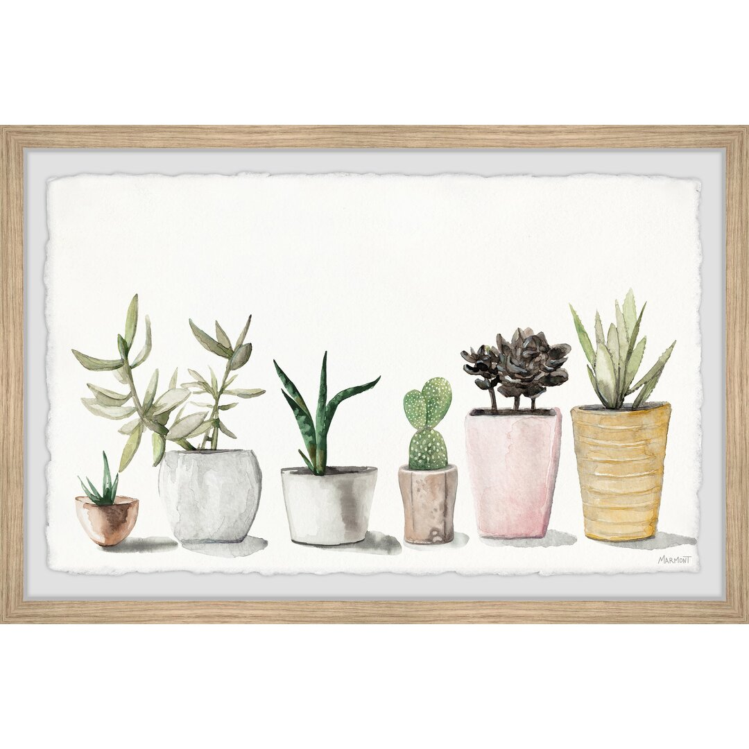 Pastel Colored Planters Framed Painting Print