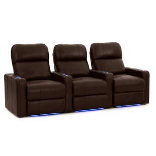 Sleek Home Theater Row Seating (Row of 3) by Latitude Run