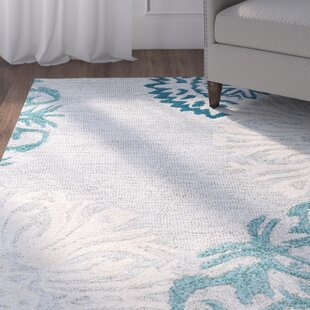 Brian Hand-Tufted Wool Blue/Tan Area Rug by Charlton Home