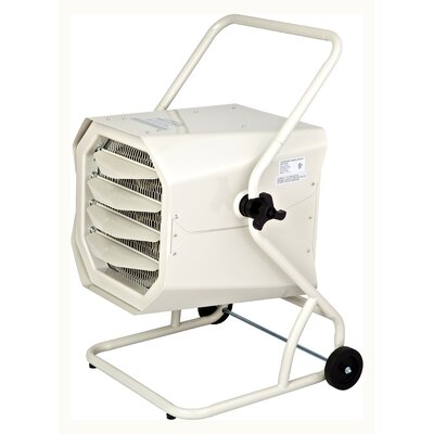 Dr. Infrared Heater 10,000 Watt Cart-Mounted Electric Forced Air Heater with Cart and Adjustable Thermostat