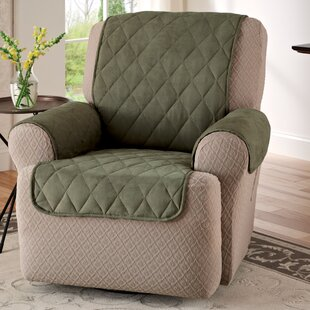 Faux Suede T-Cushion Recliner Slipcover