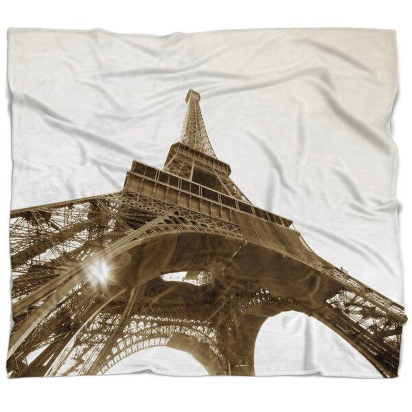 East Urban Home Photography Paris Eiffel Tower Straight Into Sky Blanket Wayfair